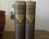 Antique Books Charles Dickens David Copperfield Little Dorrit 1890's