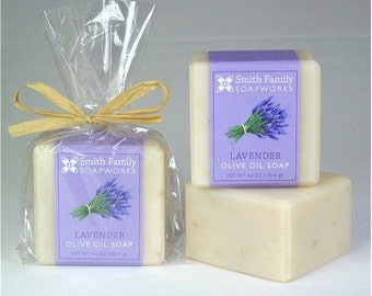 Lavender Soap - Natural Soap, Handmade Soap, Olive Oil Soap Bar, Cold Process Soap