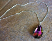 Rainbow Teardrop Necklace