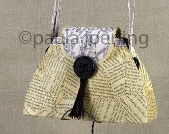 Mixed Media Paper Purse Handbag Sculpture-Madame Dean