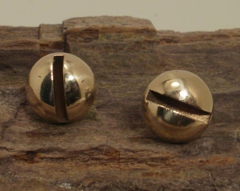 Screw Head  Earrings  - Stud Earrings - Brass