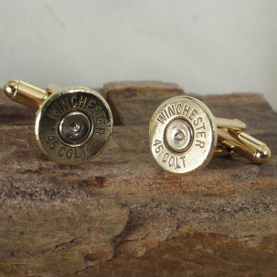 Colt 45 cufflinks  - Winchester cufflinks