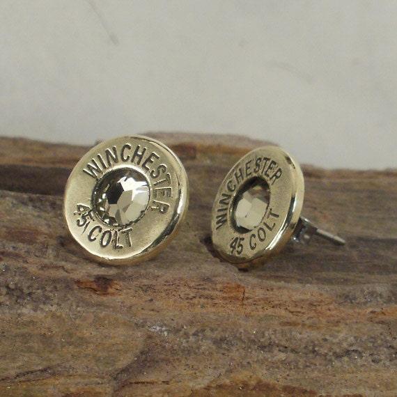 Winchester Colt 45 - Jonquil - Ultra Thin Bullet Earrings