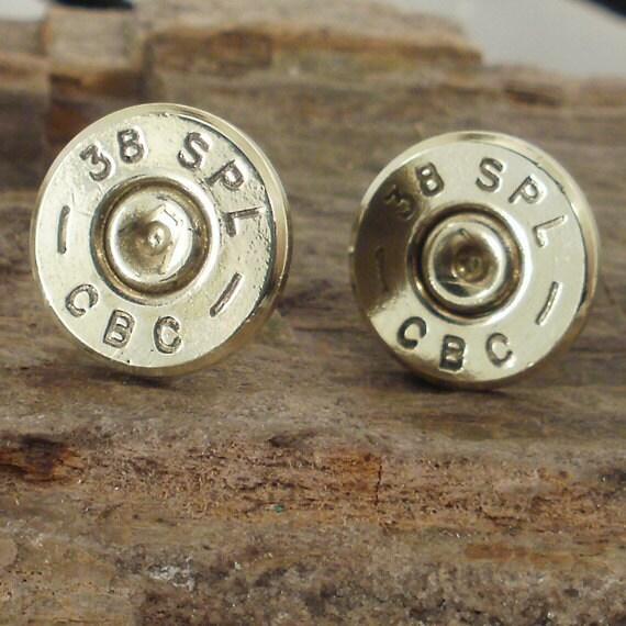 Bullet  Earrings  - CBC 38 SPL Stud Earrings - casquillo