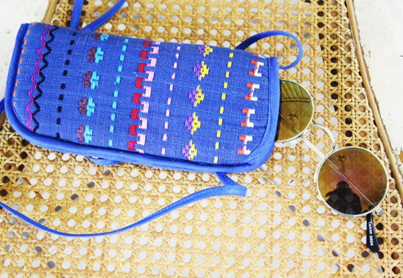 Embroidered Navajo 80s Sunglasses Case with Strap