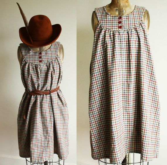 Checkered Babydoll Country Dress