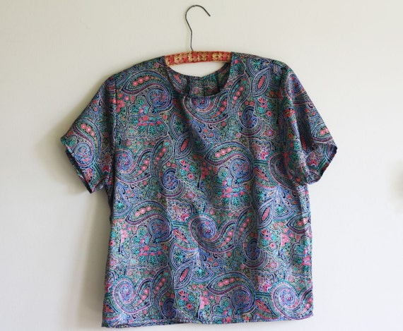 Paisley 80s Party Top