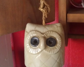 Unique Clay Owl Bell