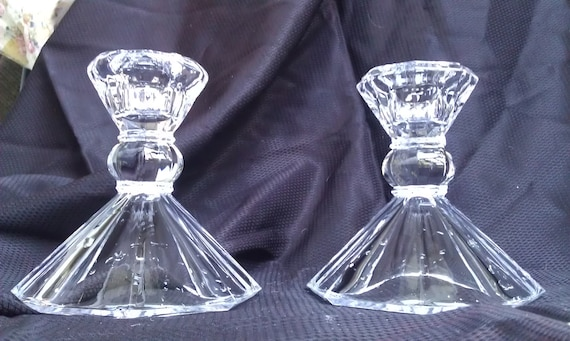 Unique Set of Crystal Candlestick Holders