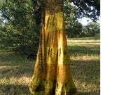 Wrap Skirt made from REcycled Silk Saris for Tall Woman