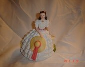Beautiful Scarlett O'Hara Porcelain Figurine