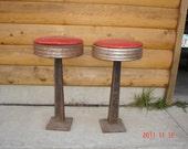 Vintage cast iron bar stools
