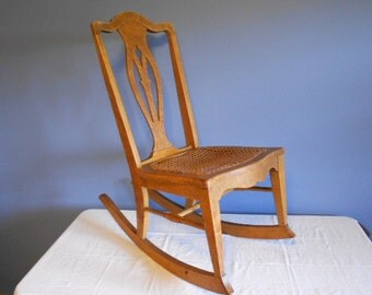 Items Similar To Vintage Antique Maple Chair With Cane