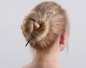 silver wood hairstick