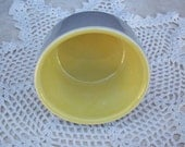 General Electric Refrigerators Hall Ovenware Addison Grey and Yellow Adonis