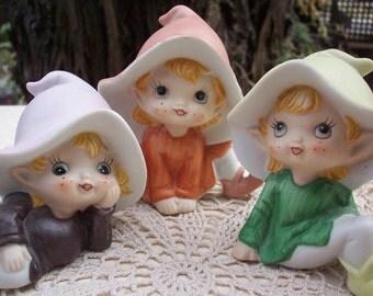 Homco Pixie Elves  5213