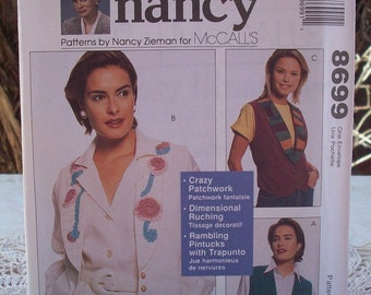 McCall's 8699 Sewing With Nancy Vest Pattern