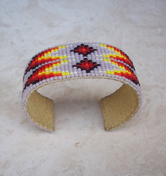 Native American Beaded Cuff Style Bracelet From New Mexico