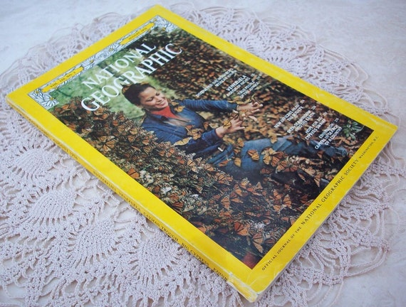 National Geographic Magazine Featuring the Discovery of the Monarch's Mexican Haven August 1976