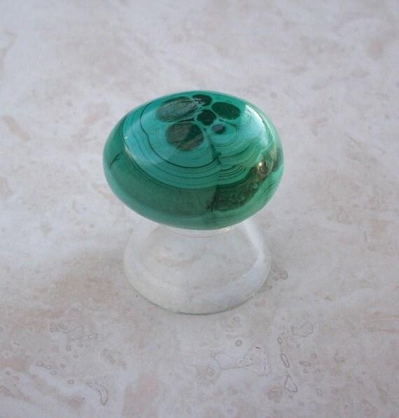 Vintage Natural Green Malachite Egg