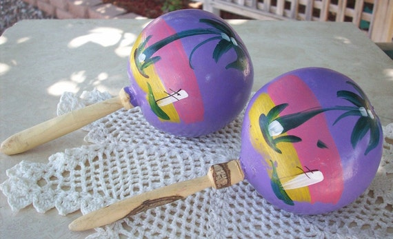 Handpainted Maracas from Mexico
