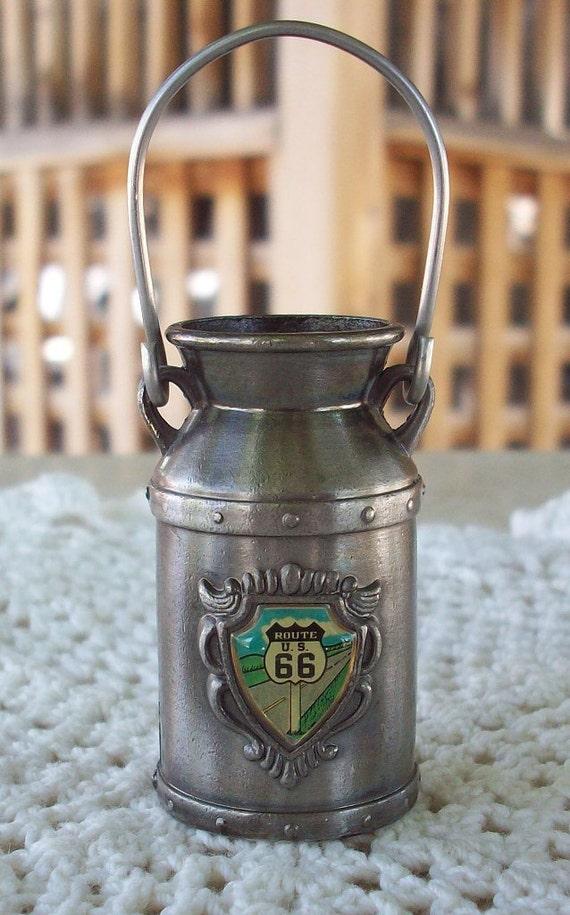 Vintage Route 66 Souvenir Milk Pail