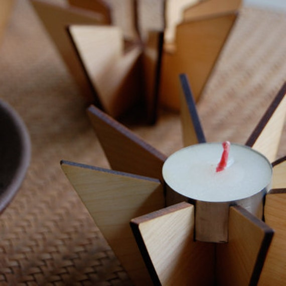 Hibachi - Wood Tealight Holder