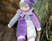 Little Clown Waldorf Doll-Lavender