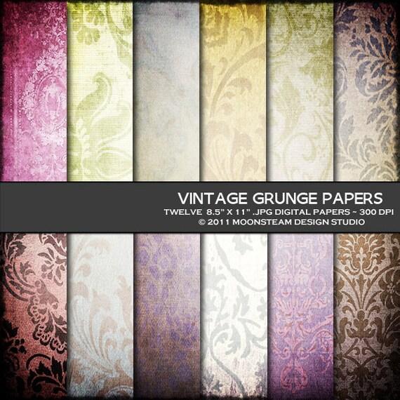 Grunge Vintage Background Vintage Grunge Digital