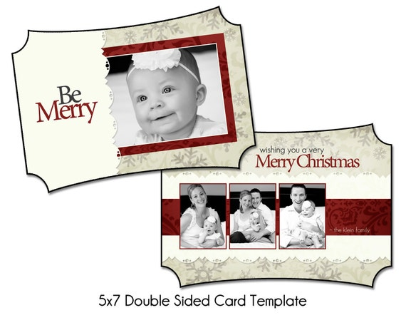 PSD Holiday Card Template - WINTER WISHES