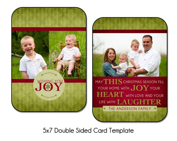 PSD Holiday Card Template - JOYFUL WISHES