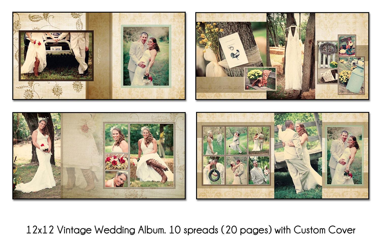 vintage 12x12 album template 10 spread 20 page. Black Bedroom Furniture Sets. Home Design Ideas