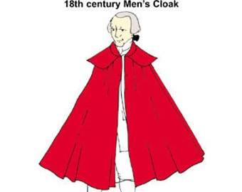 18th century Men's Cloak Pattern