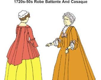 Wrapper, Robe Battante, and Casaque Pattern