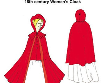 18th cenutry Women's Cloak Pattern