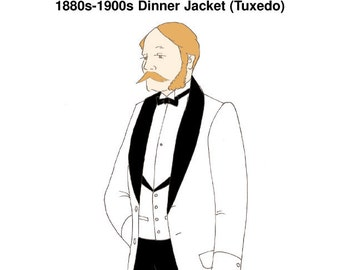 "RH924 - 1880s-1900s Dinner Jacket or ""Tuxedo"" Pattern"