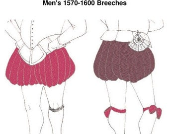 RH206 - 1570s-1600 Breeches or Trunkhose Pattern