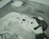 Love at first sight. // Swan Series // Printmaking - Drypoint