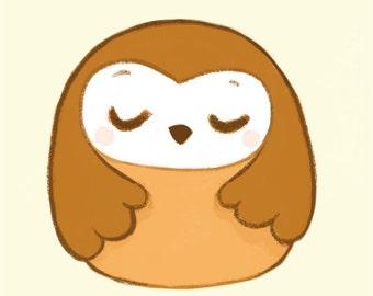6x8 print // A5 print // Huguette the owl