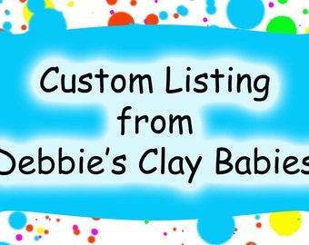Mommy and baby, clay ornament, custom listing for Peggy Lynn
