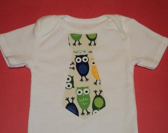 Owl Baby Bodysuit With Tie, Size 18Mo. Toddler Outfit, Toddler Tie  Bodysuit, Baby Gift, Baby Shower Gift, Baby Boy Clothes