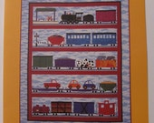 All Aboard Quilt Pattern The Country Quilter 1997 61 x 73