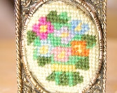 Unique Custom Cross Stitched Brooch