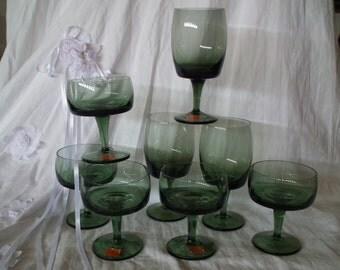 Gorham Reizart hand blown water/wine glasses