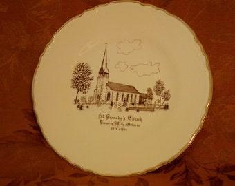 "Vintage Plate ""St. Barnaby's Church"" Canada"