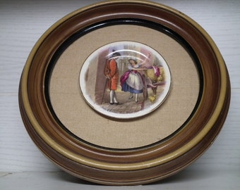 Cries of London Vintage Plate on Wood Plaque