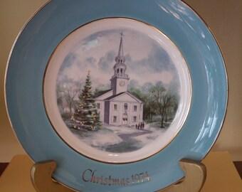 Avon 1974 Christmas Country Church 2nd ed. Plate