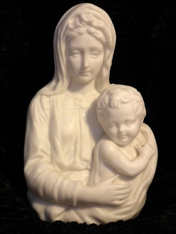 Vintage Mother Mary and Jesus Night Light