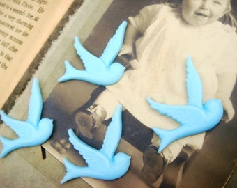 6PCS Resin Flying Swallow Cabs  Blue E-2