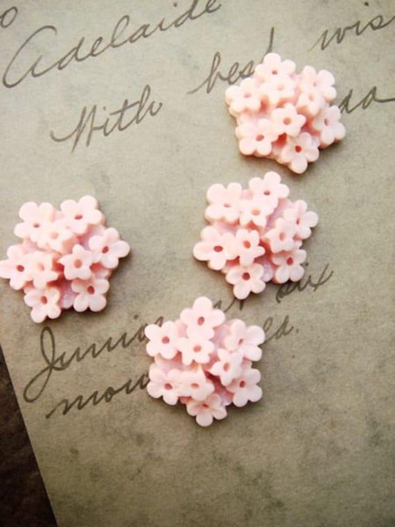 8Pcs Unique Wildflower Cluster Cabochon LT PinkG-5